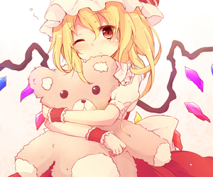 anime girl, drawing, and flandre scarlet image