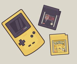 anime, childhood, and gameboy image
