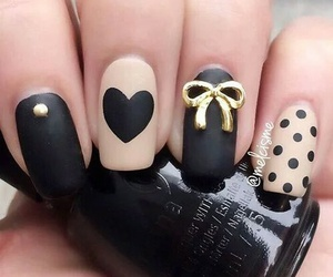 nails, cute, and black image