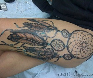 Dream, catcher, and tattoo image