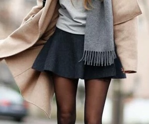 cool, skirt, and winter image