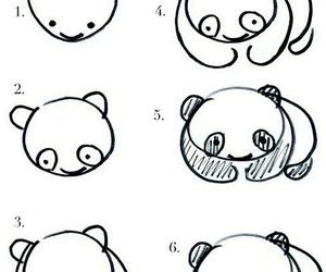 panda, draw, and drawing image