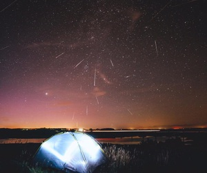 camping, star, and love image