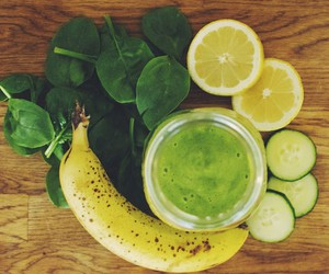 healthy, smoothie, and banana image