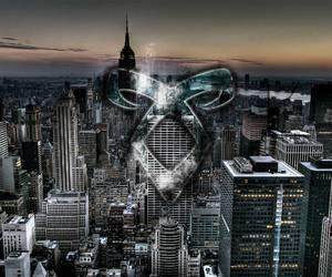 city, runes, and new york image