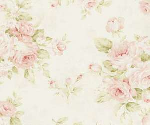fabric, floral, and girly image