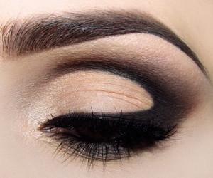 make up, makeup, and black image