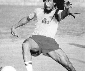 bob marley, football, and reggae image