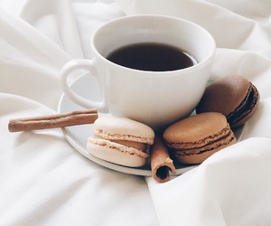 coffee, food, and macaroons image