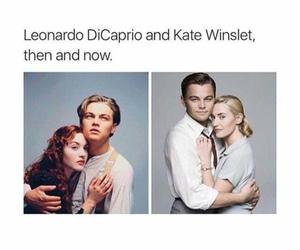 leonardo dicaprio, kate winslet, and titanic image