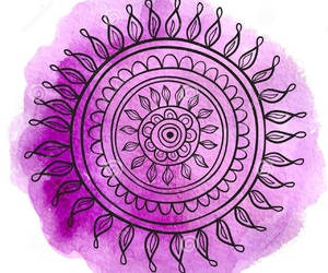 mandala, pink, and purple image