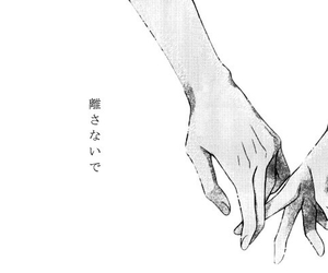love, hands, and anime image