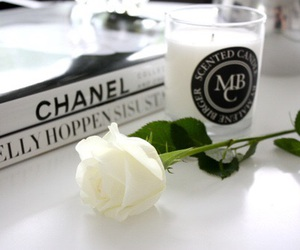 rose, chanel, and books image