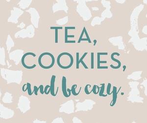 Cookies, tea, and winter image