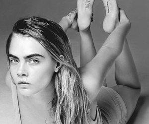 black and white, cara delevingne, and girl image