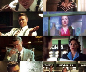 peggy carter, agent carter, and jack thompson image