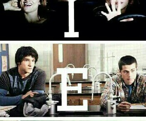 teen wolf, scott and stiles, and lydia and allison image