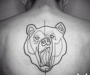 bear, line, and linhas image