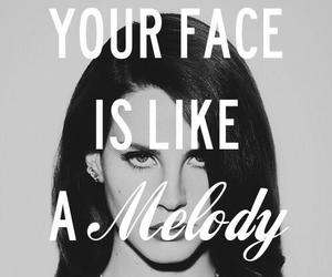 lana del rey, quote, and melody image