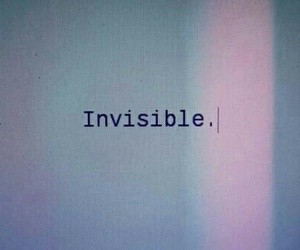 invisible, grunge, and quotes image