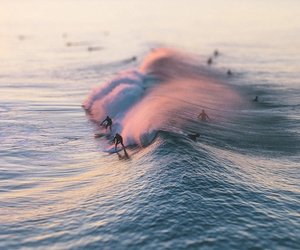waves, beach, and surf image