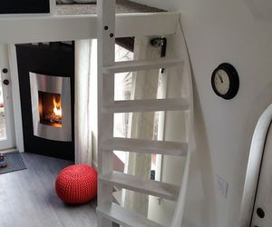 cubby, fireplace, and white decor image