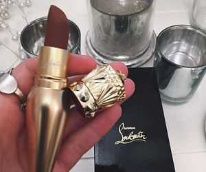 makeup, lipstick, and louboutin image