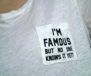 famous, shirt, and white image