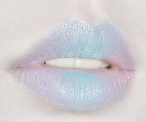 lips, blue, and pastel image
