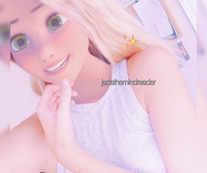 blonde hair, tangled, and disney image