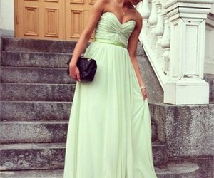 beautiful, green, and Prom image