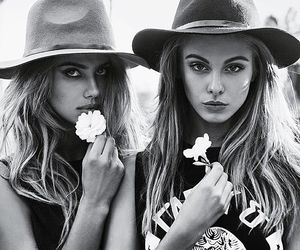 style, flowers, and model image