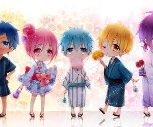 anime, kuroko no basket, and chibi image