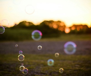 bubbles, cloudy, and evening image