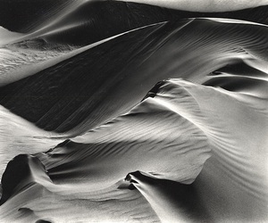 black and white, photography, and sand image