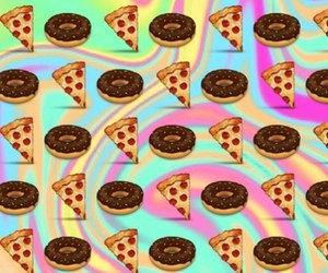 pizza, donuts, and food image