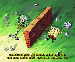 spongebob, squidward, and lol image