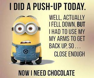 minions, funny, and chocolate image