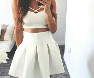 fashion, white, and outfit image