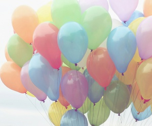 joy happy, 🎈, and balloons balloon party image