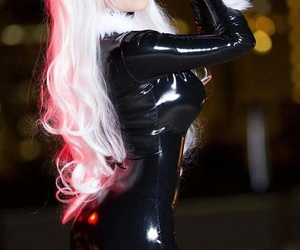 black, black cat, and cosplay image