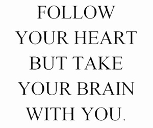 heart, quote, and brain image