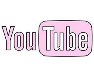 youtube, pink, and transparent image