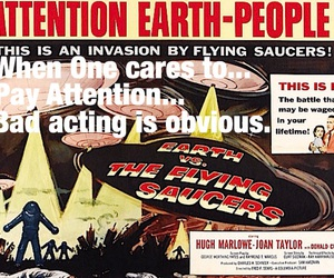 acting, attention, and flying saucers image