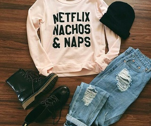 outfit, style, and netflix image
