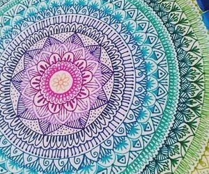 colourfull, drawings, and flower image