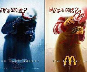 funny, McDonalds, and joker image