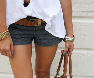 fashion, shorts, and watch image