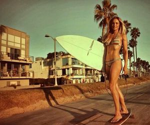beach, surf, and vacation image