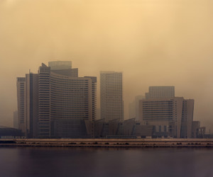 cityscape, haze, and waterfront image